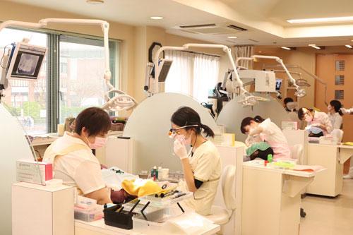 歯の治療中